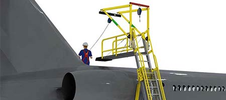 Aircraft Freestanding Anchor & Ladder