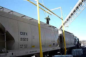 Railcar Freestanding Horizontal Lifeline
