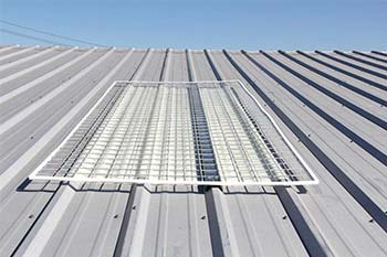 Skylight Screens for Corrugated Metal Roofs