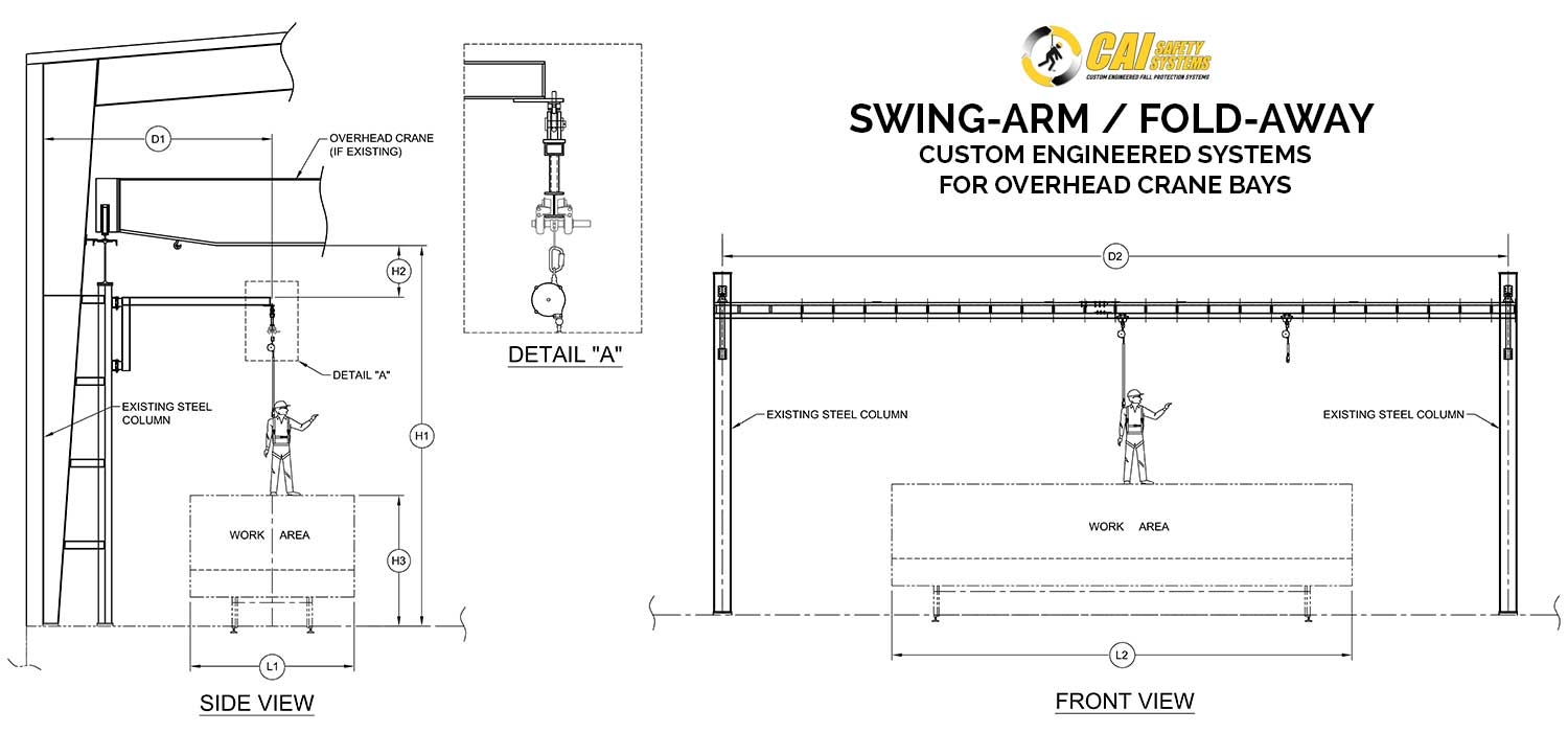Swing-Arm / Fold-Away - Reference Drawing