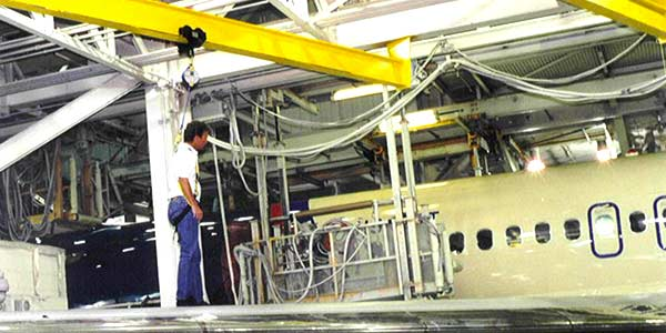 Aircraft Hangar Mounted