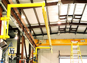 Swing-Arm System for Overhead Crane Bays