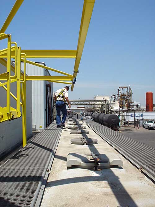 Outdoor freestanding fall arrest anchor systems