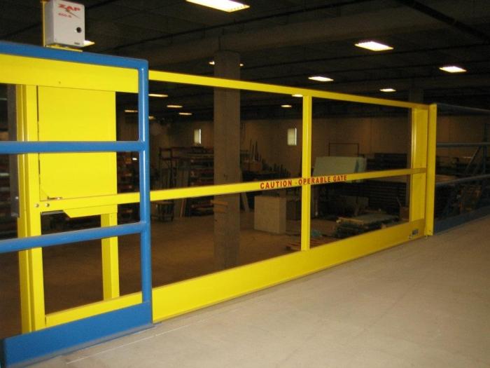 Horizontal Opening Mezzanine Safety Gate