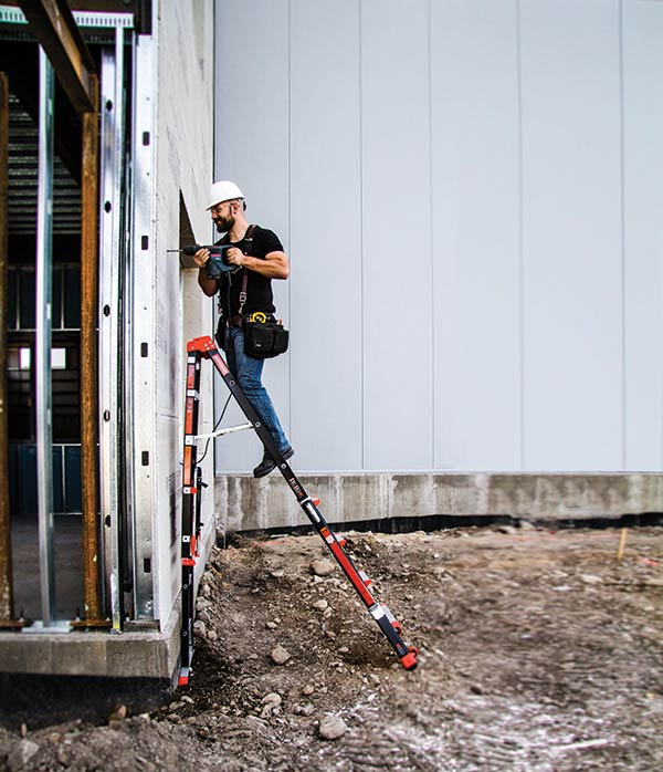 Adaptive Step Ladder with Workstation (Fiberglass)