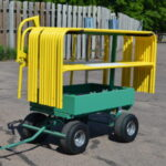 Flatbed Truck Mounted Guardrail – Transportation Cart