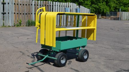 Flatbed Truck Mounted Guardrail - Transportation Cart