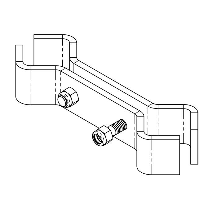 Dual Rail Clamp (joins two vertical rail posts)