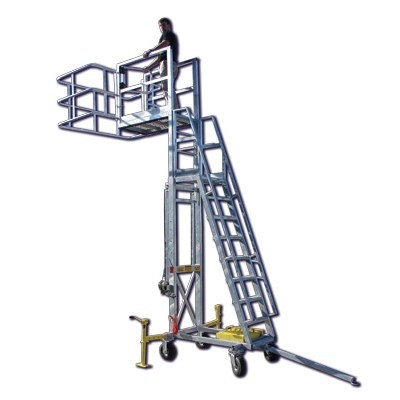 Portable Access Platform with Steel Towbar