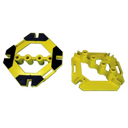 Base Plate w/rubber pads (Powder Coat Safety Yellow)
