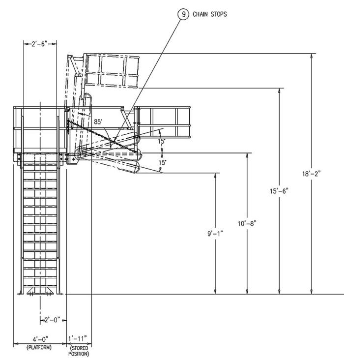 Access Platform & Gangway for Trucks - Side View