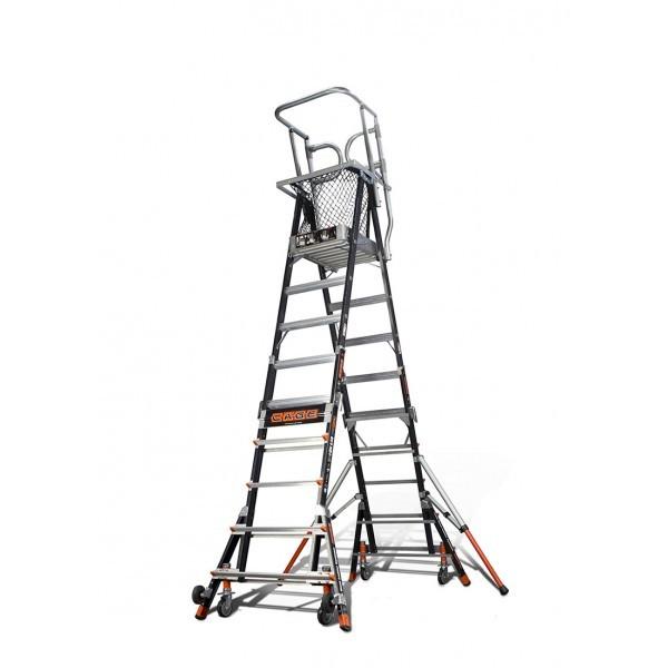 Standard Dual Safety Ladder with Enclosed Work Platform