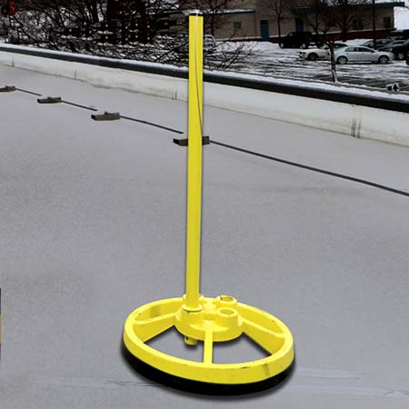 Base & Stanchion (Powder-coated Yellow)