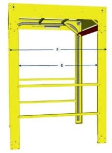 Mega Dual Mezzanine Gate - Dimensions Reference