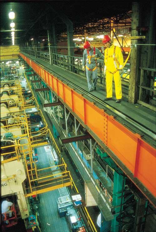 Overhead Crane Rail Fall Protection