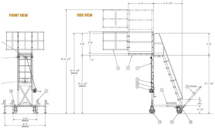 Portable Access Platform Dimensions
