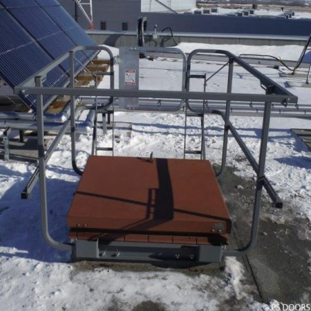 Roof Hatch Fixed Guardrail System