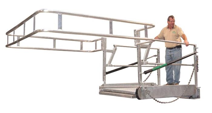 Access Gangway with Safety Cage