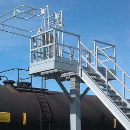 Single Hatch Access Platform with Gangway