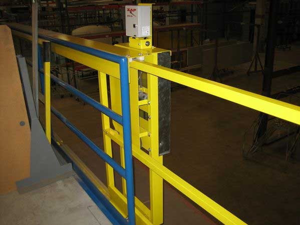 Horizontal Opening Mezzanine Safety Gate Cai Safety Systems