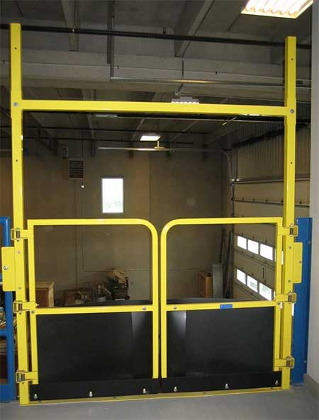 Mezzanine Pallet Gate : Pallet self closing safety gate cai systems