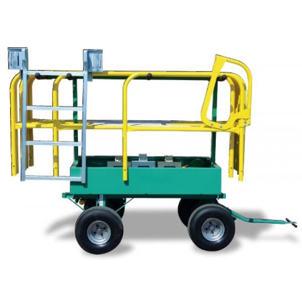 Flatbed Truck Guardrail Cart