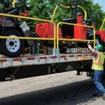 Flatbed Truck Mounted Guardrail