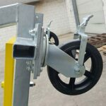 Swivel Wheels with Wheel Lock – Portable Access Platform