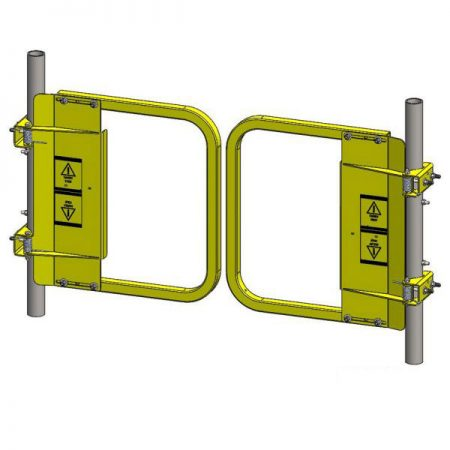 Split Self-Closing Safety Gate