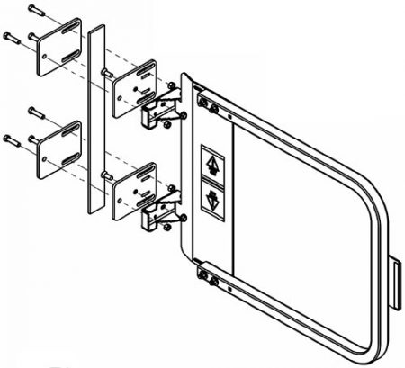 Flat Bar Safety Gate Adapter Bracket