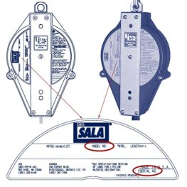 DBI-SALA® Self-retracting Lifeline Label - Serial & Model No.