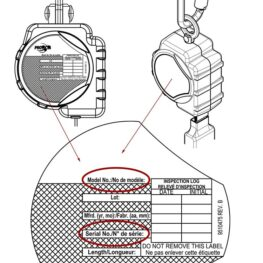 PROTECTA® Self-retracting Lifeline Label - Serial & Model No.