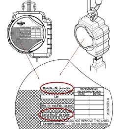 PROTECTA® Self-retracting Lifeline Label - Serial & Model No.