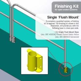 Finishing Kit – Single 'Flush Mount' Base
