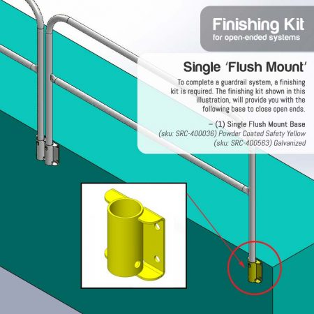 Finishing Kit – Single 'Flush Mount' Base
