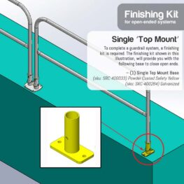 Finishing Kit – Single 'Post Rail' Base