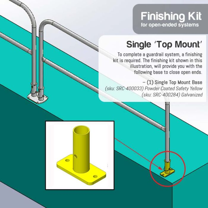Finishing Kit – Single Top Floor Mount