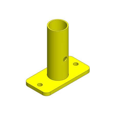 Finishing Kit – Single Top Floor Mount - Safety Yellow