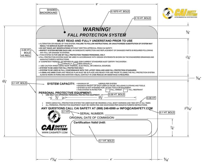 CAI Safety Systems - Warning Sign
