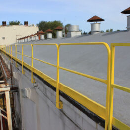 Fixed Mounted Guardrails with Brackets