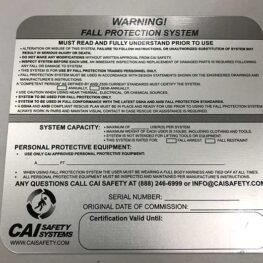 CAI Safety Systems - Warning Signs