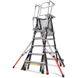 Standard Dual Safety Ladder with Enclosed Work Platform