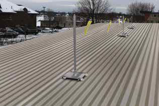 Fixed Roof Warning Lines - Corrugated Deck Kit