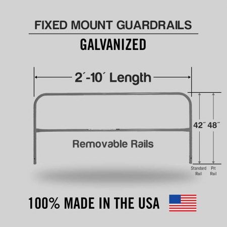 Fixed Mounted Railings - Galvanized