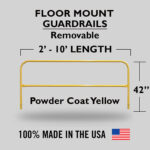 Fixed Mounted Railings – Powder Coated Safety Yellow