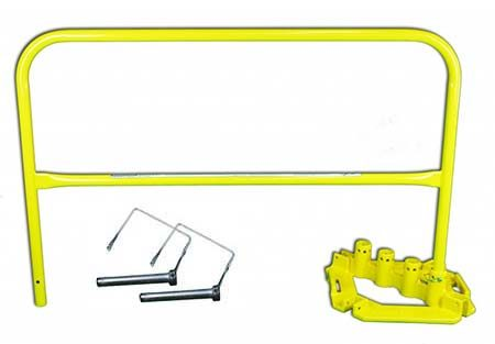 Steel Guardrails Powder Coat Yellow Kit