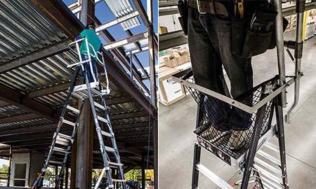 Standard Ladder with Enclosed Work Platform
