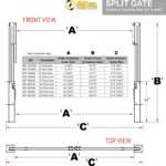 Split Opening Cantilever Gate (Reference Chart)