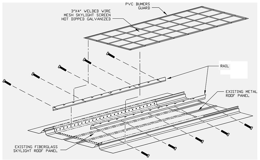 standing seam metal roof canopy details sketch coloring page