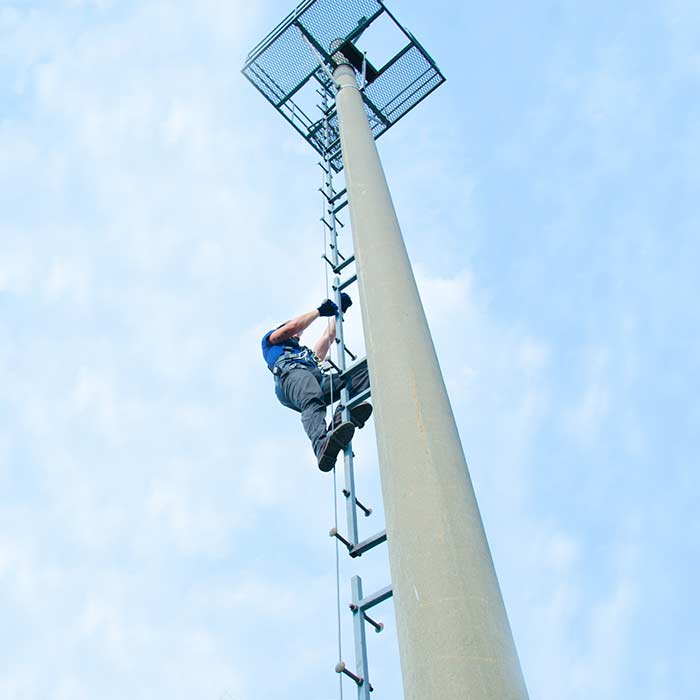 Ladder Cable Fall Arrest - Steel Pole